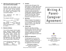 Writing A Parent-Caregiver Agreement