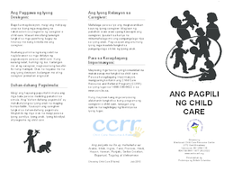 Choosing Child Care - Filipino