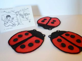 Lady Bugs - Felt Board Items at the WELL